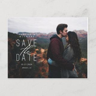 Side Stacked Save the Date Postcard