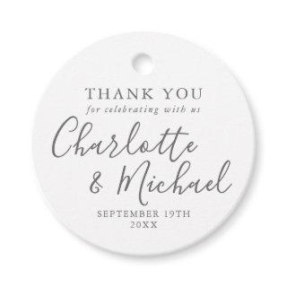 Signature Wedding Thank You Favor Tags