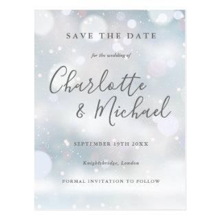 Signature Winter Frost Save the Date Postcard
