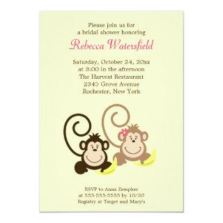 Silly Monkeys 5x7 Bridal Shower Invitations