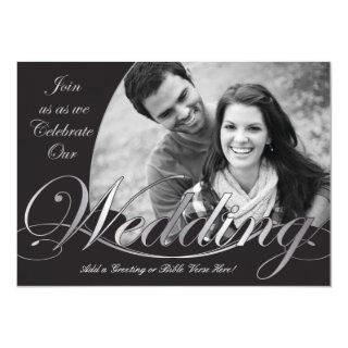Silver and Black Wedding Invitations