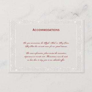 Silver and White Snowflake Wedding Insert Card