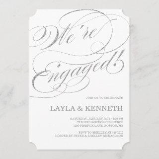Silver Engagement | Engagement Party Invitations