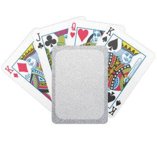 Silver glitter blank template bicycle playing cards