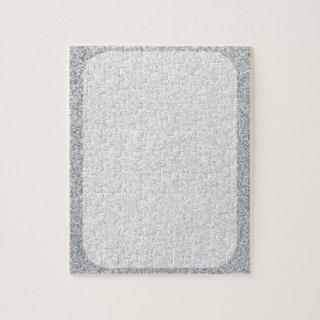 Silver glitter blank template jigsaw puzzle