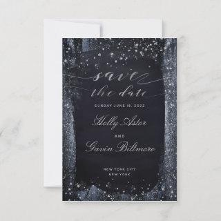 Silver Starry Night Wedding Save The Date
