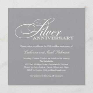 Silver Wedding Anniversary Invitations