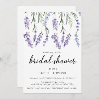 Simple and Elegant Lavender Bridal Shower Invitations