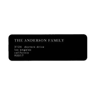 Simple Black and White Modern Calligraphy Return Label