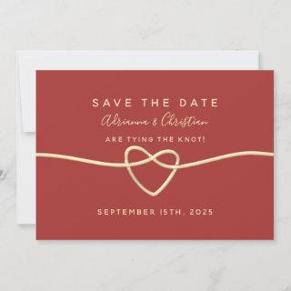 Simple Burgundy Red Wedding Save The Date