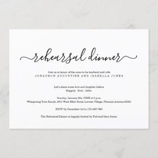 Simple Classic Rehearsal Dinner Invitations