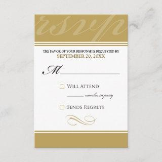 Simple Designer RSVP Card (gold)