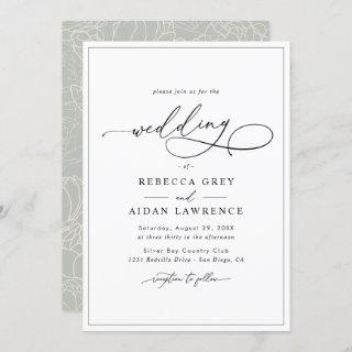 Simple Elegant Calligraphy Script Wedding Invitation