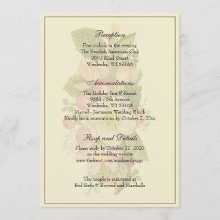 Simple Elegant Classic Wedding Reception Enclosure Invitation