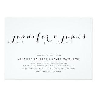 Simple Elegant Script | Modern Wedding Invitations