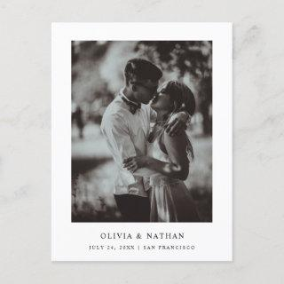Simple Elegant Text and Photo | Save the Date Announcement Postcard
