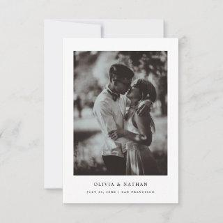 Simple Elegant Text and Photo | Wedding Save The Date
