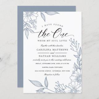 Simple Floral I Have Found The One   Blue Wedding