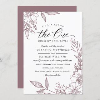 Simple Floral I Have Found The One   Mauve Wedding