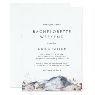 Simple Floral Mountain Bachelorette Weekend Invitations