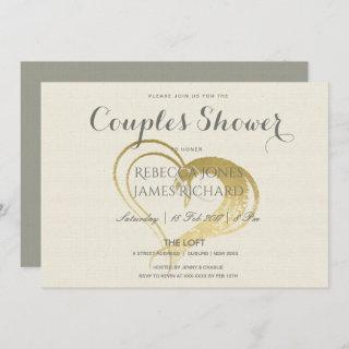SIMPLE GOLD HEART TYPOGRAPHY COUPLES SHOWER