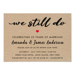 Simple Kraft Texture Vow Renewal Invitation