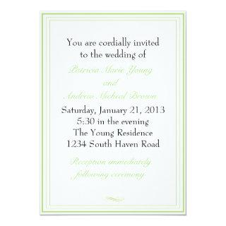 Simple Lime Green Wedding Invitation