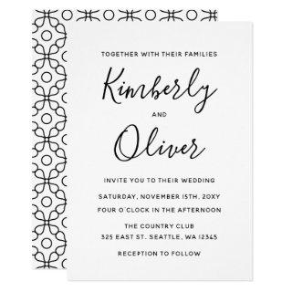 Simple Minimal Black and White Calligraphy Wedding Invitation