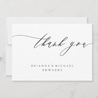 Simple Modern Calligraphy Thank You Card
