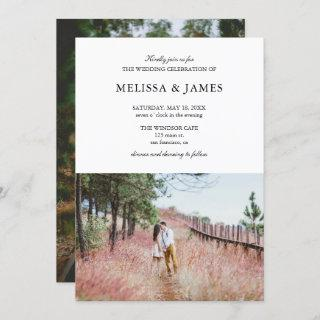 Simple Modern Photo Wedding Invitations