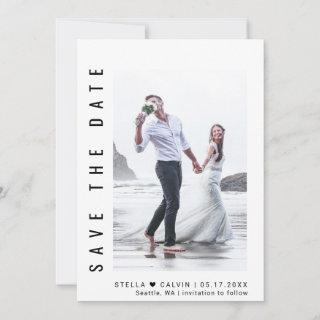 Simple & Modern Photo Wedding Save The Date