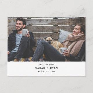 Simple Modern Photo Wedding Save the Date Announcement Postcard