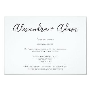 Simple modern rehearsal dinner invitations