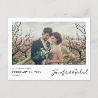 Simple Photo design Save the Date Postcard