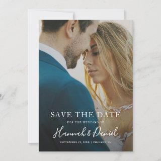 Simple Photo Save the Date Wedding Invite Template