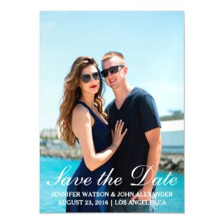 Simple Photo Template Save The Date Magnetic Invitation