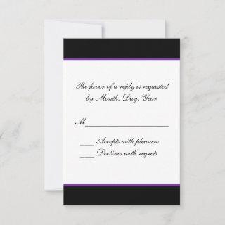 Simple purple wedding RSVP