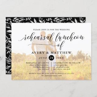 Simple Script Typography Photo Rehearsal Luncheon Invitation