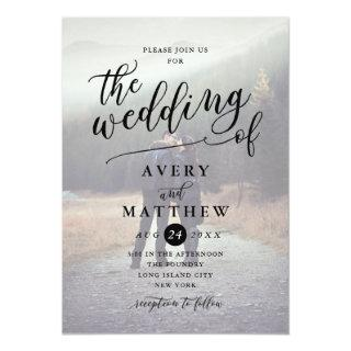 Simple Script Typography | Photo Wedding Invitation