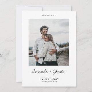 Simple Stylish Modern Photo Wedding Save the Date