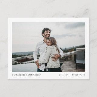 Simple Stylish Modern Photo Wedding Save the Date Invitations Postcard