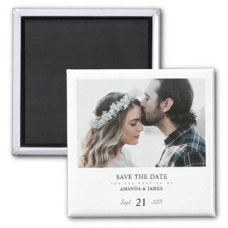 Simple Stylish Modern Photo Wedding Save the Date Magnet
