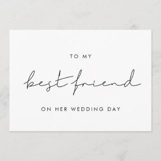 Simple To my best friend on her wedding day card
