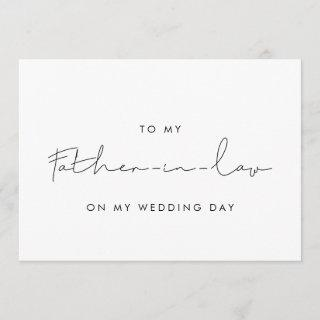 Simple To my father-in-law on my wedding day card