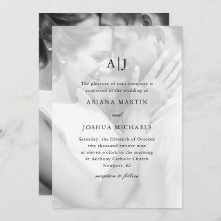 Simple Two Photo Wedding with Overlay Invitation