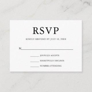 Simple Wedding RSVP Enclosure Card