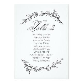 Simple wedding seating chart floral. Table plan 2 Invitations