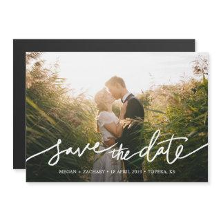 Simply Chic Photo Custom Wedding Save the Date Magnetic Invitations