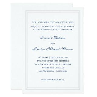Simply Classic Wedding Invitations
