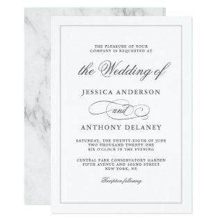Simply Elegant Affair Wedding Invitation
